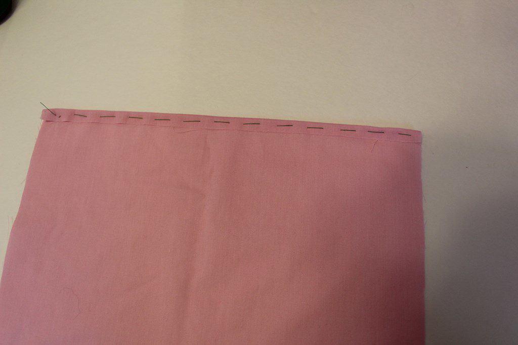 Preparing to sew invisible stitch