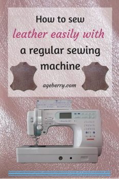 This is a tutorial on how to sew leather with a domestic sewing machine.