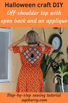 Halloween sewing projects: DIY off-shoulder top