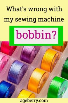 Do you have sewing machine bobbin problems like bobbin winder not working or bobbin thread bunching up? Check out these solutions to common problems. Sewing machine repair, sewing 101, sewing machine tension problems.