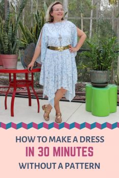 How to sew a dress without a pattern easily