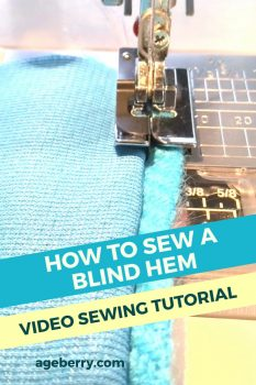 How to sew a blind hem
