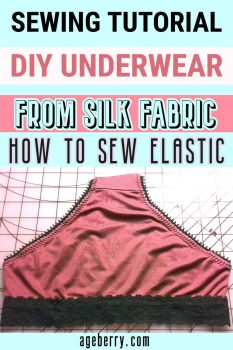 DIY underwear sewing tutorial