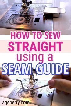 Seam guide sewing tutorial