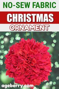 no-sew fabric Christmas ornament