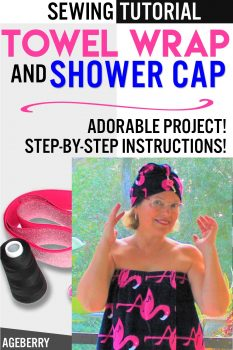 towel wrap and shower cap from terry towels