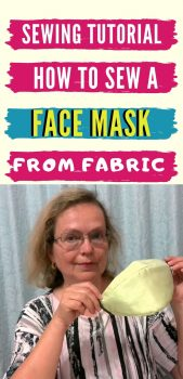 Sewing tutorial on a face mask from fabric plus a free pattern
