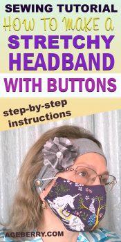 Sew headband DIY sewing pattern