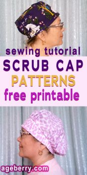 Scrub cap patterns free printable