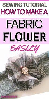 fabric flowers tutorial pattern