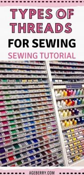 different types of threads for sewing