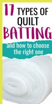 best quilt batting types
