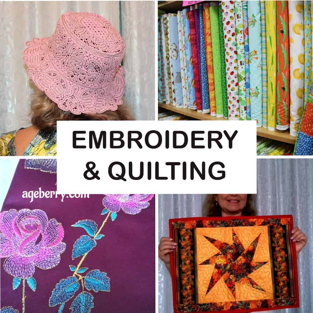 Embroidery and quilting from ageberry