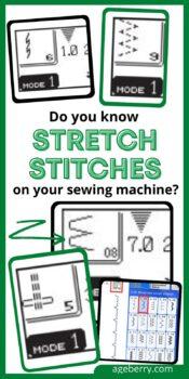 stretch stitches sewing machine tutorial