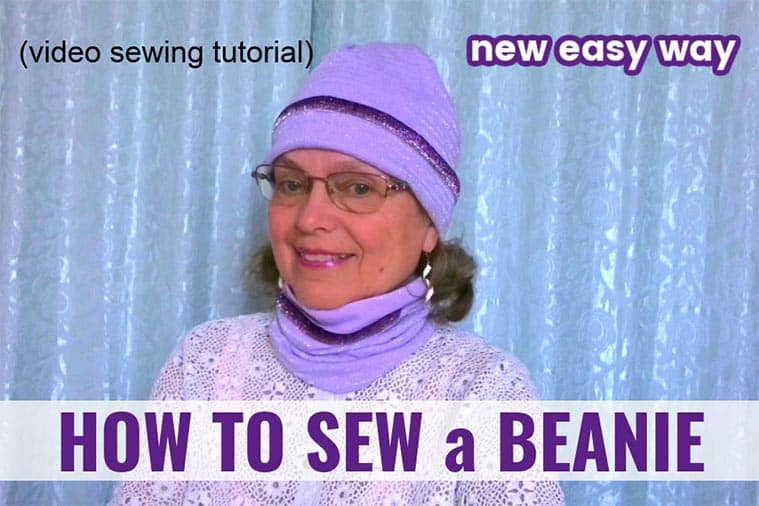 Sewing tutorial on how to sew a beanie hat